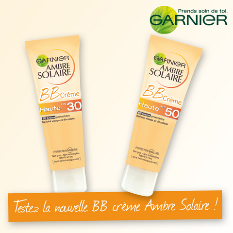 testez gratuitement la nouvelle bb cr me ambre solaire de garnier. Black Bedroom Furniture Sets. Home Design Ideas