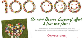 100.000 Mini Beurre corporel The Body Shop offerts gratuitement