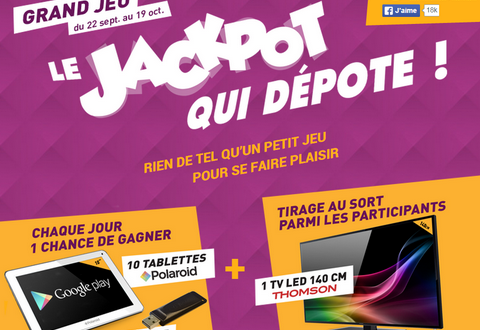 grand jeu electro depot le jackpot qui d pote de. Black Bedroom Furniture Sets. Home Design Ideas