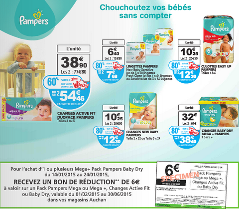 Auchan couches pampers jusqu 39 80 de r duction bon - Bon de reduction couches pampers a imprimer ...