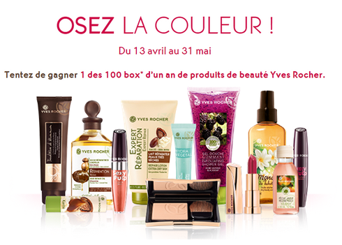 jeu concours yves rocher 100 box d 39 un an de produits de beaut remporter. Black Bedroom Furniture Sets. Home Design Ideas