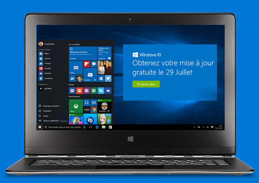 microsoft windows 10 mise jour gratuite maximum chantillons. Black Bedroom Furniture Sets. Home Design Ideas