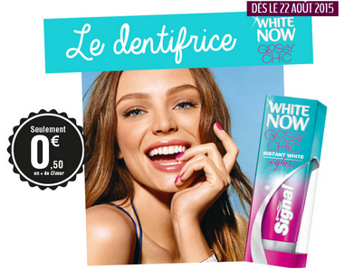 closer + dentifrice Signal white now glossy chic