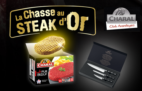 Jeu Charal chasse au steack d'or