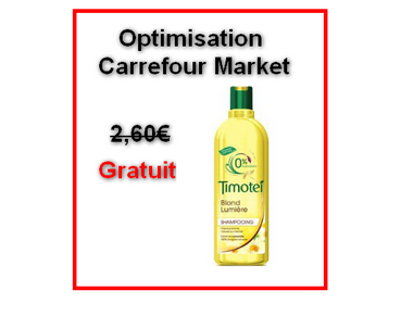 carrefour market shampooing timotei 300ml gratuit au lieu de 2 60 optimisation. Black Bedroom Furniture Sets. Home Design Ideas