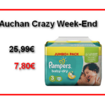 Auchan Promo Crazy Week-end  : Changes Pampers  à 7,80€ au lieu de 25,99€