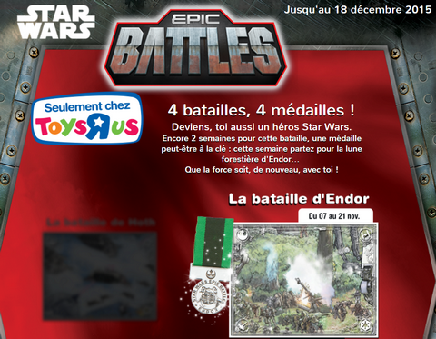 Star Wars Toys'R'US medaille gratuite