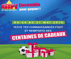gifi quizz foot euro 2016 des centaines de cadeaux gagner maximum chantillons. Black Bedroom Furniture Sets. Home Design Ideas
