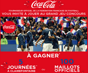 grand jeu coca cola et buffalo grill 100 maillots officiels des bleus et 5 journ es. Black Bedroom Furniture Sets. Home Design Ideas