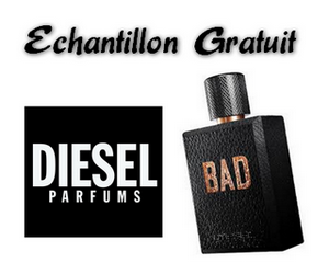 chantillon gratuit du nouveau parfum pour homme diesel bad maximum chantillons. Black Bedroom Furniture Sets. Home Design Ideas