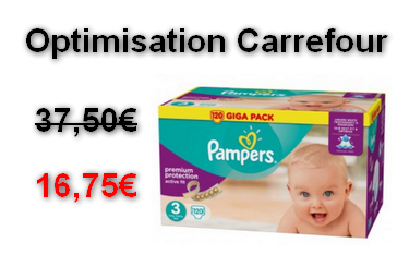 Carrefour giga pack couches pampers active fit 16 75 au lieu de 37 50 optimisation - Carrefour couches pampers ...