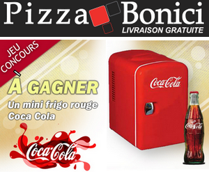 concours pizza bonici coca cola 6 x 1 mini frigo coca. Black Bedroom Furniture Sets. Home Design Ideas