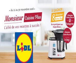 lidl jeu concours monsieur cuisine 10 robots de cuisine monsieur cuisine gagner maximum. Black Bedroom Furniture Sets. Home Design Ideas
