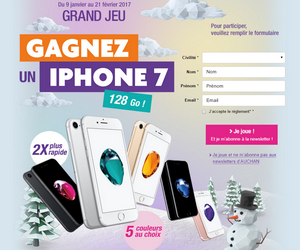 auchan grand jeu auchan 1 iphone 7 gagner maximum chantillons. Black Bedroom Furniture Sets. Home Design Ideas