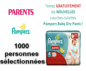 Test gratuit pampers parents couches culottes baby dry pants de pampers maximum chantillons - Couches culottes pampers ...