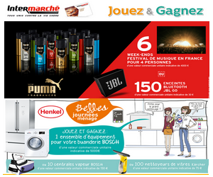 grand jeu intermarch puma henkel 267 cadeaux gagner maximum chantillons. Black Bedroom Furniture Sets. Home Design Ideas