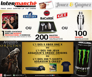 grand jeu intermarch monster energy get 606 cadeaux gagner maximum chantillons. Black Bedroom Furniture Sets. Home Design Ideas