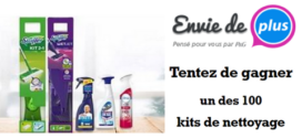 Jeu Envie de Plus Swiffer – Febreze – Antikal 100 kits avec Mr. Propre, Swiffer, Febreze & Antikal à Gagner