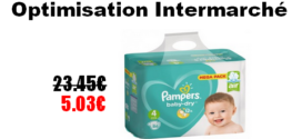 Intermarché : Changes Pampers Baby-Dry à 5.03€ au lieu de 23.45€ (Optimisation)