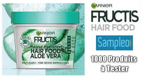 Test Gratuit Sampleo : Hair Food Aloe Vera de Garnier Fructis
