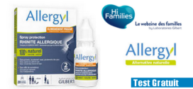 Hi Families Test produit : Spray Protection Rhinite Allergique Allergyl