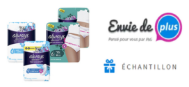 Envie de Plus : 225 Échantillons Gratuits Always Discreet