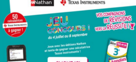 Grand Jeu ABC Nathan/Texas Instruments 50 calculatrices Texas Instruments à Gagner