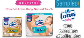 Test Gratuit Sampleo : Couches Lotus Baby Natural Touch