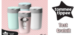 Tommee Tippee Test Gratuit : Poubelle à couches Twist & Click Tommee Tippee