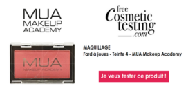 free Cosmetic testing Test Gratuit : Fard à joues – MUA Makeup Academy
