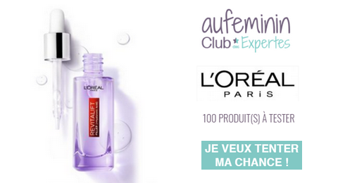 Club des Expertes Auféminin : Sérum Anti-rides Revitalift Filler L'Oréal Paris
