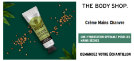 Échantillon gratuit The Body Shop : Crème Mains The Body Shop offerte en magasin
