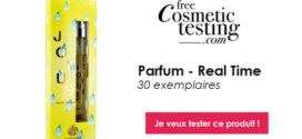 free Cosmetic testing Test Gratuit : Parfum – Real Time