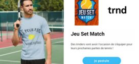 Trnd Nouvelle Campagne de Test : Vêtements de Tennis Jeu Set Match