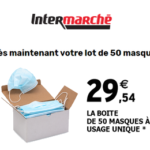 Intermarché lot de 50 Masques