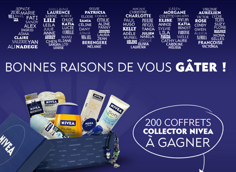 Concours Facebook Nivéa 200 Coffrets Collector à Gagner