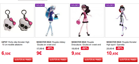 Monster high promotion auchan soldes