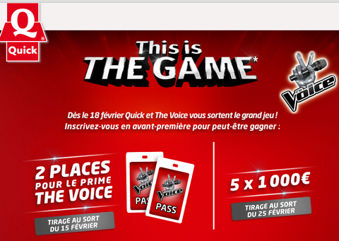 This is the Game the voice Quick