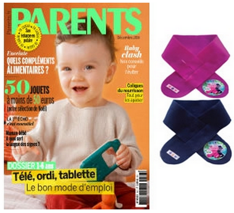 Magazine Parents un cache cou offert
