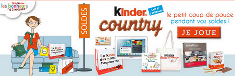 Kinder country jeu concours
