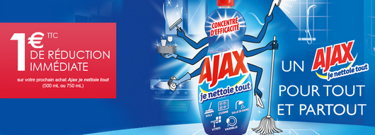 Bon de réduction Ajax Gel Multi-usages Je Nettoie tout