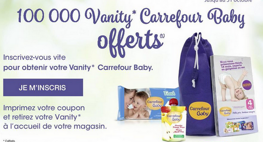 Carrefour Vanity Baby offertes