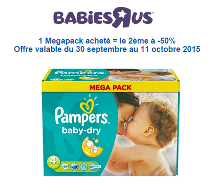 Offre Pampers Babies'R'US
