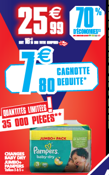 Auchan promo crazy week-end Pampers