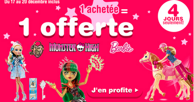 Toys R Us promotion barbie monster hight